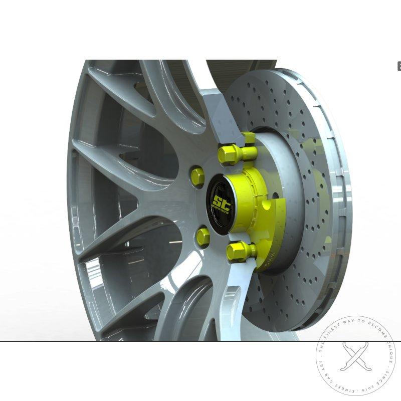 2x15mm SCC Fahrzeugtechnik Distanzscheiben Set 30mm schwarz eloxiert mit Radschrauben f/ür BMW