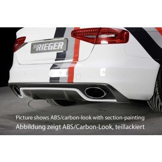 Rieger Heckeinsatz Für Audi A4 S4 B8b81 Lim 0112 Ab Facelift