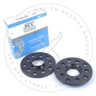 SCC Spurverbreiterung 12170E silber eloxiert 2 St/ück LK: 112//5 NLB: 66,6-20mm