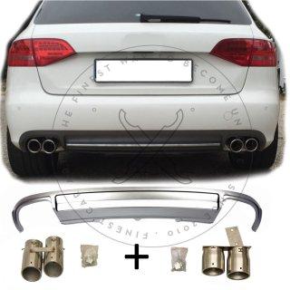 Duplex Diffusor Set Für Audi A4 B8 8k Vorfacelift Standard